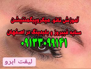 آموزش تاتو میکروپیگمنتیشن سایه فیبروز و بلیدینگ در اصفهان