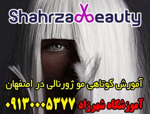 آموزش کوتاهی مو ژورنالی در اصفهان