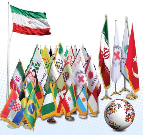 چاپ و تولید فوری پرچم رومیزی و تشریفات 77646008-021
