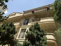 شستشوی نمای ساختمان و سطوح و ضد آب سازی با فناوری نانو در ارتفاع
